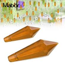 1Pcs 38mm Clear Crystal Glass Clear Amber Bead Crystal Ball Prism Suncatcher Lamp Pendant Decor(China)