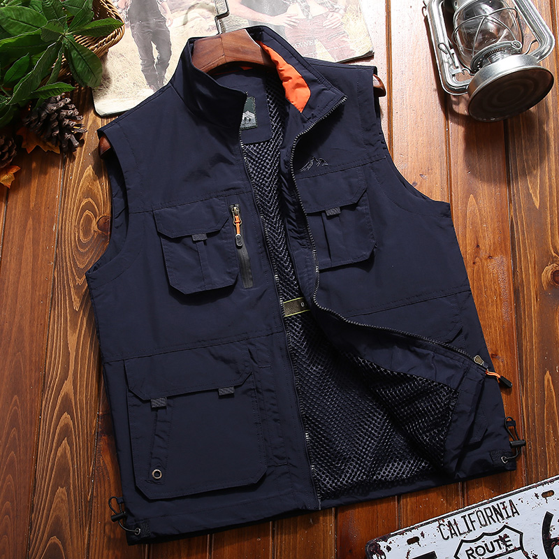 Vest JEEP Fishing Stand-Collar Quick-Drying Multi-Pocket Outdoor Male Summer Men's Casual