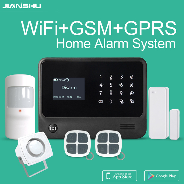 2017 new WIFI Alarm System Smart Home GSM Alarm System Support 8 ...