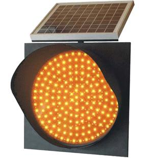 Factory Price Traffic Light 300mm Solar LED Amber Flashing Warning Light Road Blinker