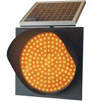 Factory Price Traffic Light 300mm Solar LED Amber Flashing Warning Light Road Blinker