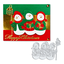 Julyarts Merry Christmas Santa Snowman Lantern Metal Cutting Dies Stencil Scrapbooking Album Decor Embossing Cards Making DIY