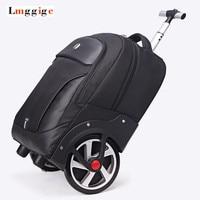 big wheel suitcase,rolling luggage shoulder bag,trip trolley cabin case,light boarding large capacity travel box