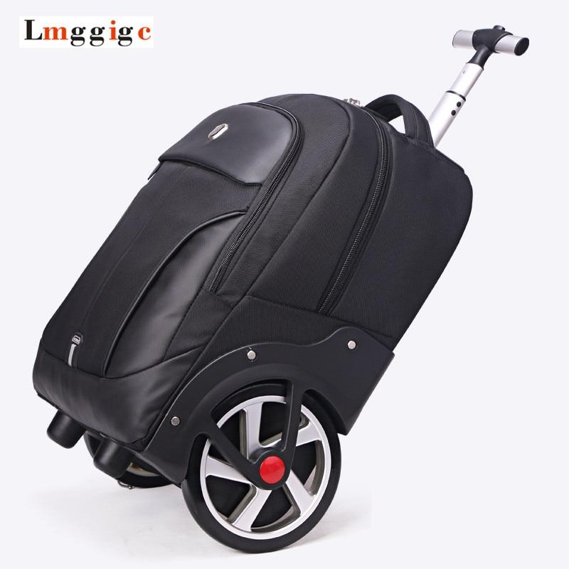 Big Wheel Suitcase,rolling Luggage Shoulder Bag,trip Trolley Cabin Case,light Boarding Large-capacity Travel Box