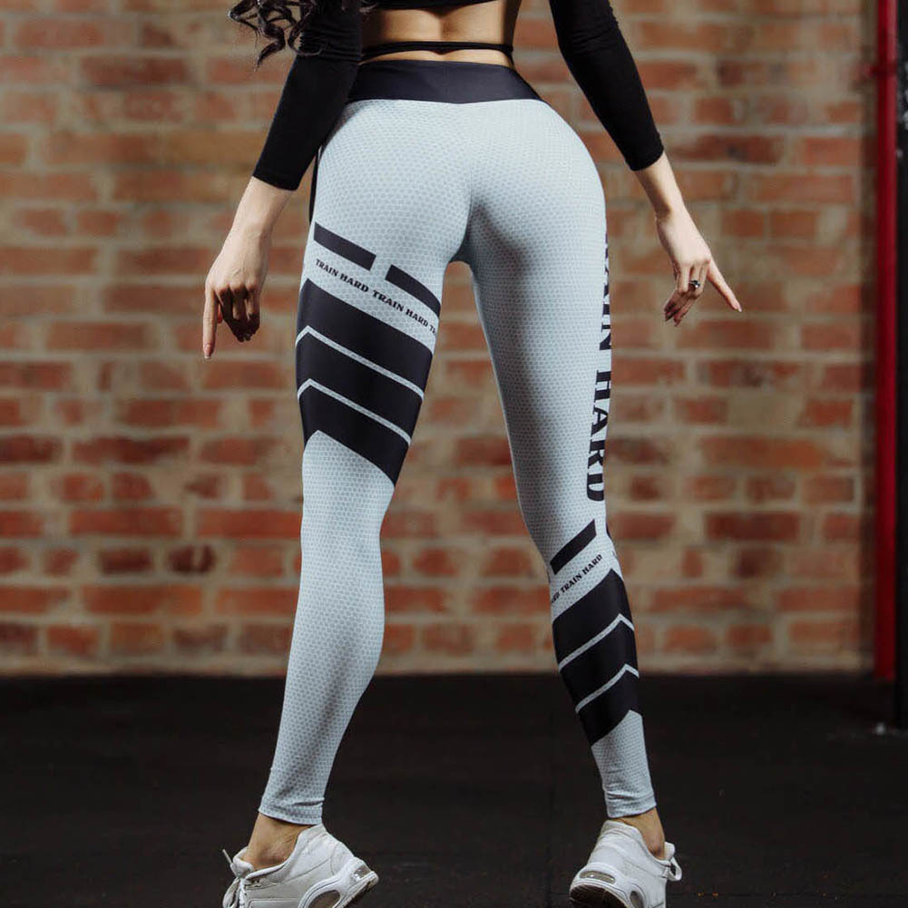 Sport Leggings High Waist Pants Gym Clothes Sexy Running -3291