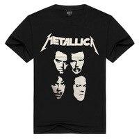 Men T Shirts Summer Black Metallica 3D Print 100 Cotton Tshirt Short Sleeve Heavy Metal Rock