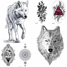 20b94f509 YURAN Black Pencil Sketch Temporary Tattoo Stickers Women Body Arm Fake  Tattoo Girls Makeup Tips Waterproof