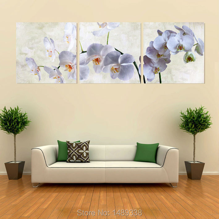 3 panel Wall Art Moth orchid Picture Oil Painting Canvas No ...