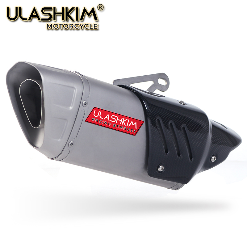 36~51mm Universal Motorcycle Carbon Fiber Slip-On Exhaust Escape Muffler Pipe Slip-On Fit Most Motorcycle
