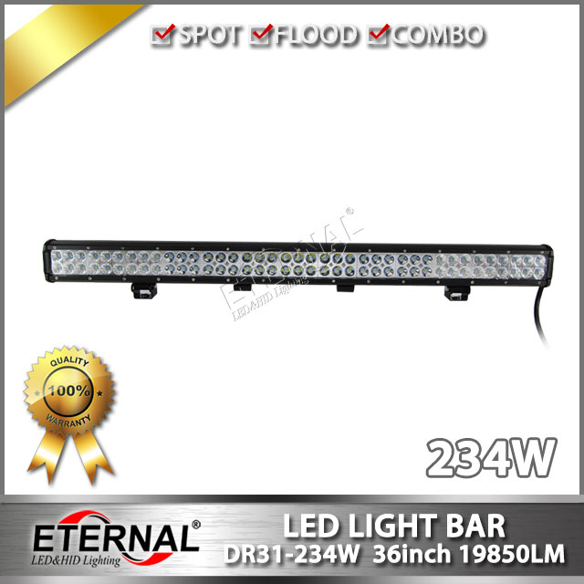 234W LED light bar offroad driving headlight 4x4 roof bar high power 36inch off road ATV UTV roof led light bar bumper lamp 1pcs 120w 12 12v 24v led light bar spot flood combo beam led work light offroad led driving lamp for suv atv utv wagon 4wd 4x4