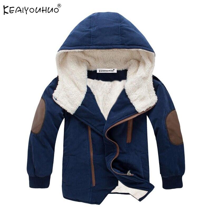 2018 новые зимние пальто для мальчиков куртка для Одежда для маленьких девочек с длинным рукавом дети мальчик пальто теплая хлопковая куртка ...