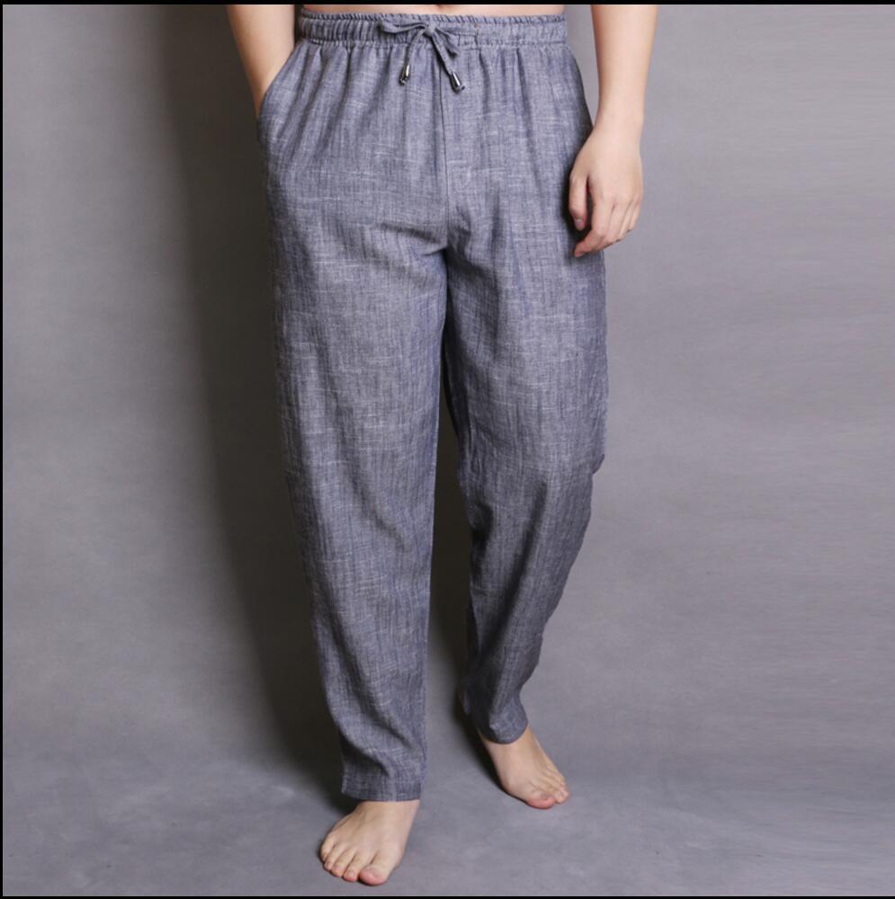 90947d81497 L 5XL Spring and summer vintage linen harem pants men fluid casual loose  pants trousers plus size Elastic Waist Straight Pants-in Harem Pants from  Men s ...