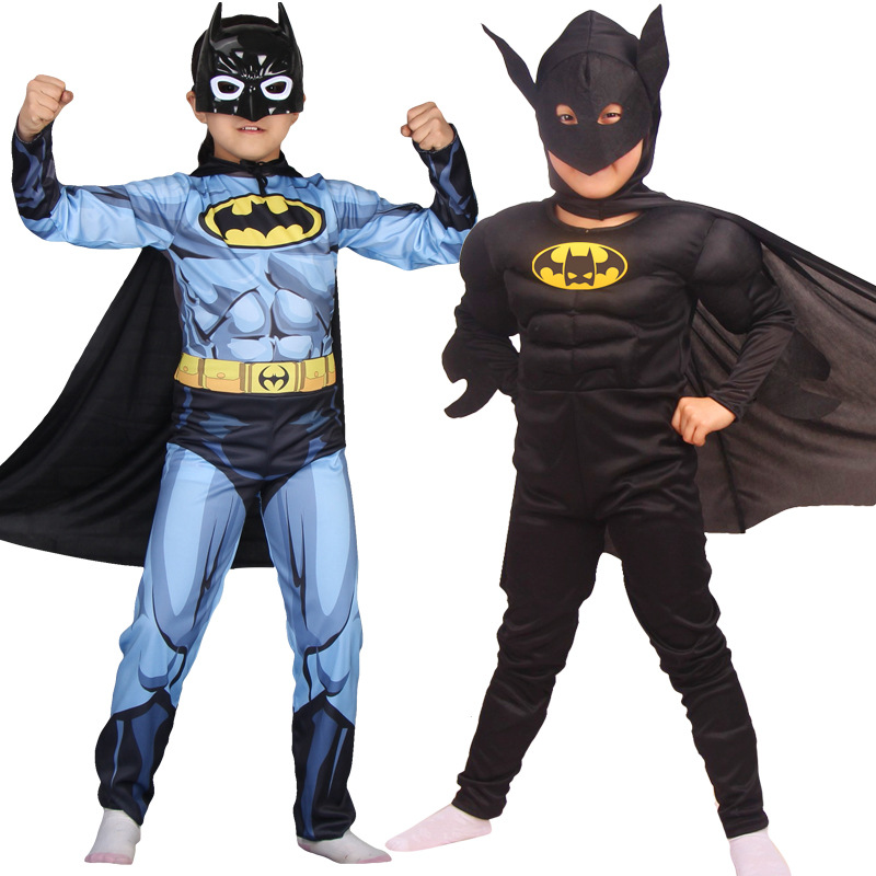 Batman Cosplay Costume Marvel Halloween Mask Cosplay Full Body SuperMan CostumeMuscle Superhero Bodysuit zentai Jumpsuits