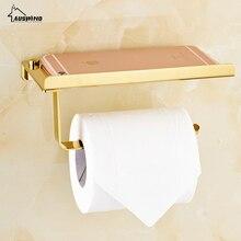 Золотой держатель для туалетной бумаги из нержавеющей стали устойчивые держатель для санитарно-гигиенической бумаги с держателем для телефона польский finis аксессуары для ванной комнаты Набор