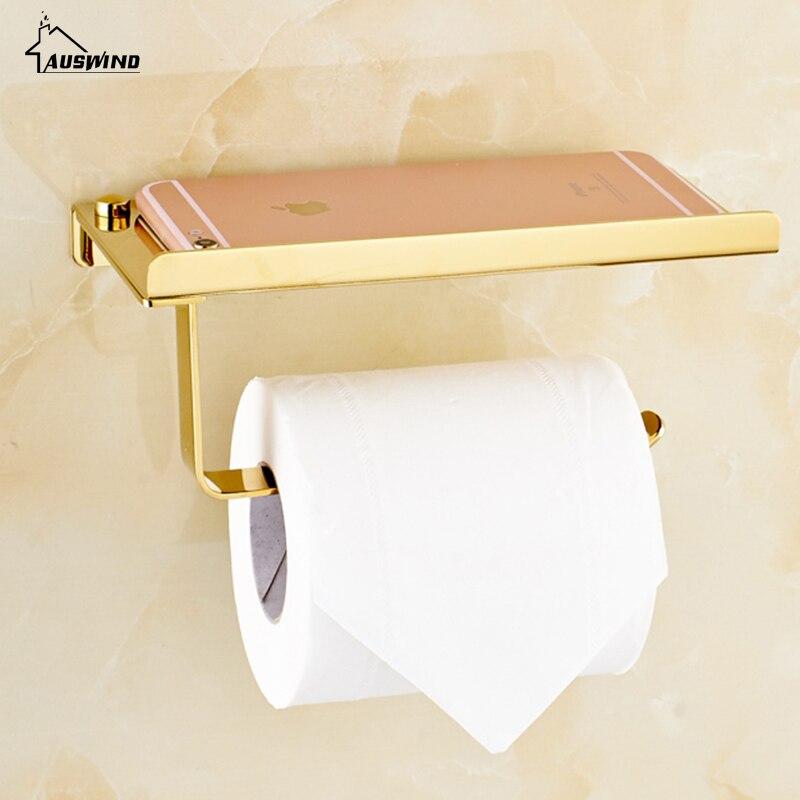 Gold Wc Papier Halter Edelstahl Bestandig Seidenpapier Rack Mit