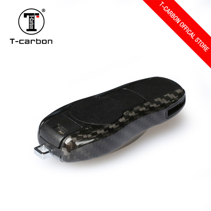 100% Carbon Fiber Car Key Case Protective Shell Styling Bag Box For Porsche Cayenne Macan Cayman Boxster 911