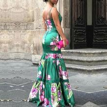 فستان ستان أنيق مطبوع برسومات زاهية