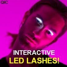 LED Glowing False Eyelashes Salon Pub Club Bar Party Players Eyelidtape Electronic Eyelid Fake Eyelashes Icon Performance
