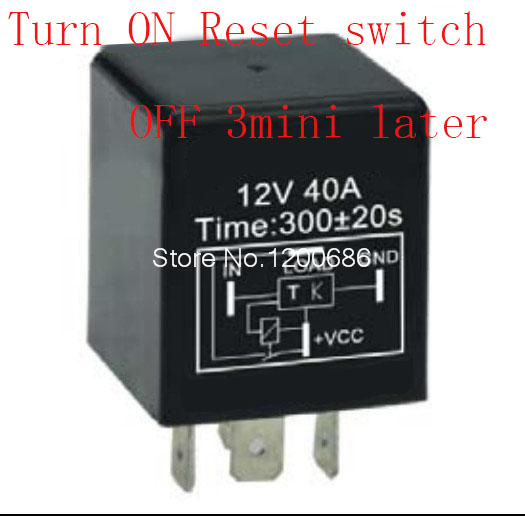 30A 5 minutes delay off after signal reset switch turn on Automotive 12V Time Delay Relay 300 second delay release off relay30A 5 minutes delay off after signal reset switch turn on Automotive 12V Time Delay Relay 300 second delay release off relay