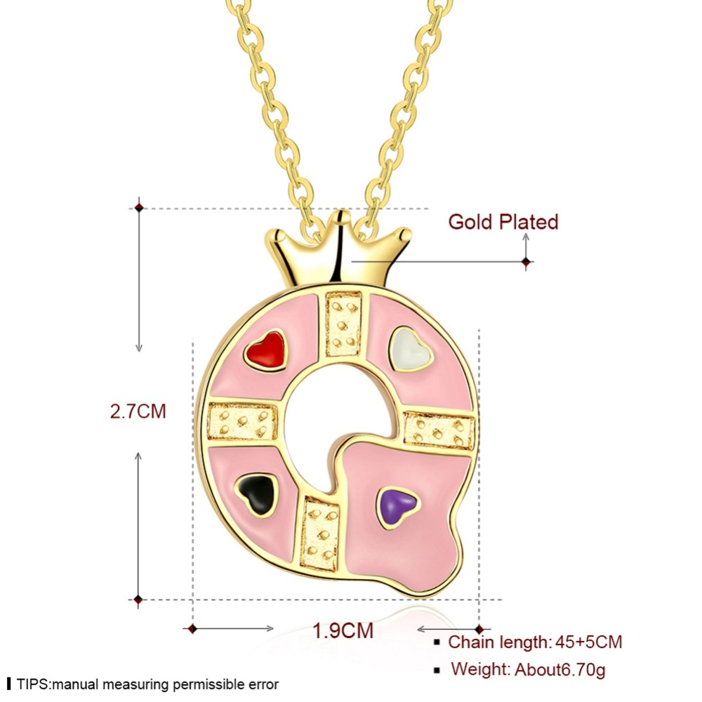 Color q online - Free Shipping Necklace Letter Q Crown Pendant Rose Gold Color Necklace China Mainland
