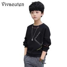 Teenager Jungen T Shirt 2019 Herbst Frühling Marke Kinder Voll Hemd Casual Langarm Sweatshirt Kinder Kleidung Bluse Tops H212