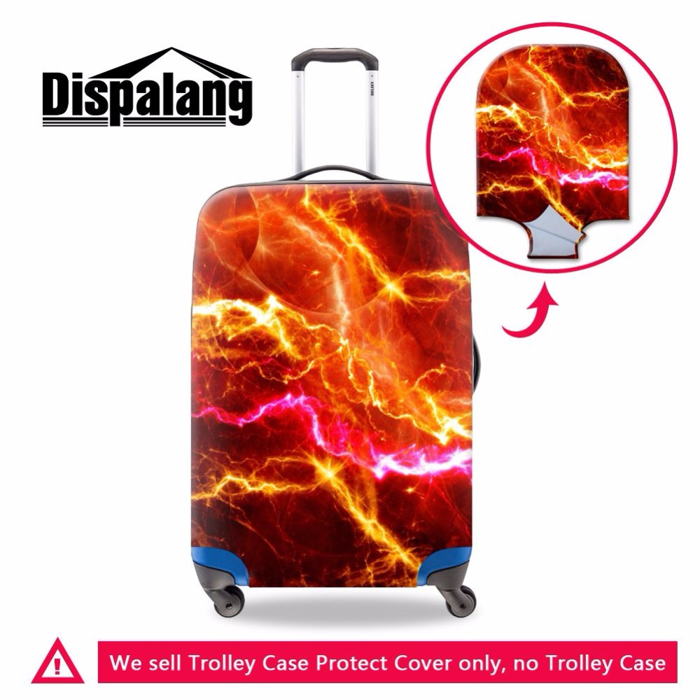 Dispalang Lightning 3D Printing 18-30 Inch Trunk Case Covers Trolley Suitcase Travel Dust Cover Accessories Supplies Products