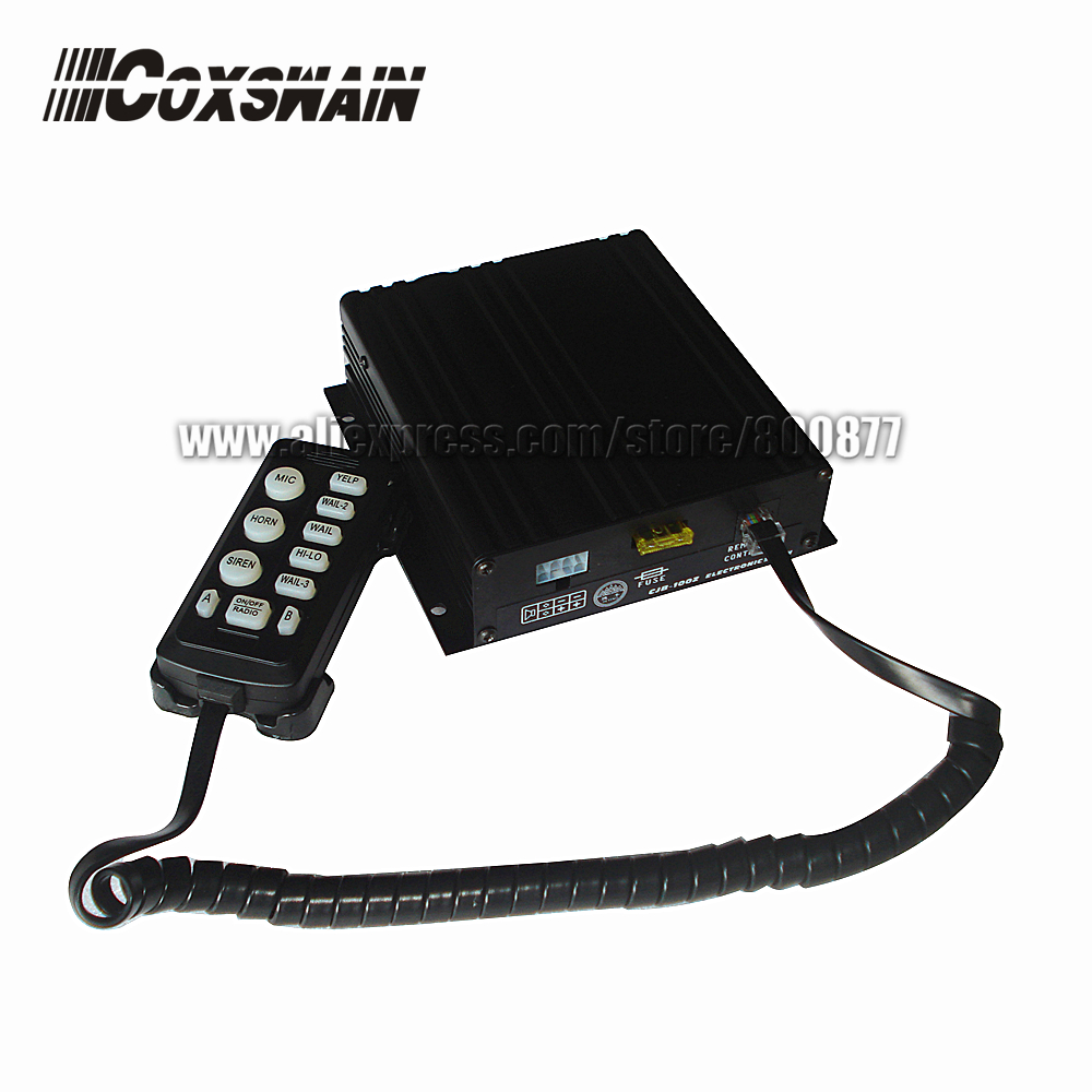 (CJB-150Z) 150W Car Warning Police Siren, 10 Tones, 2 Light Switches,  Volume Adjustable, 150W Amplifier (without Speaker)