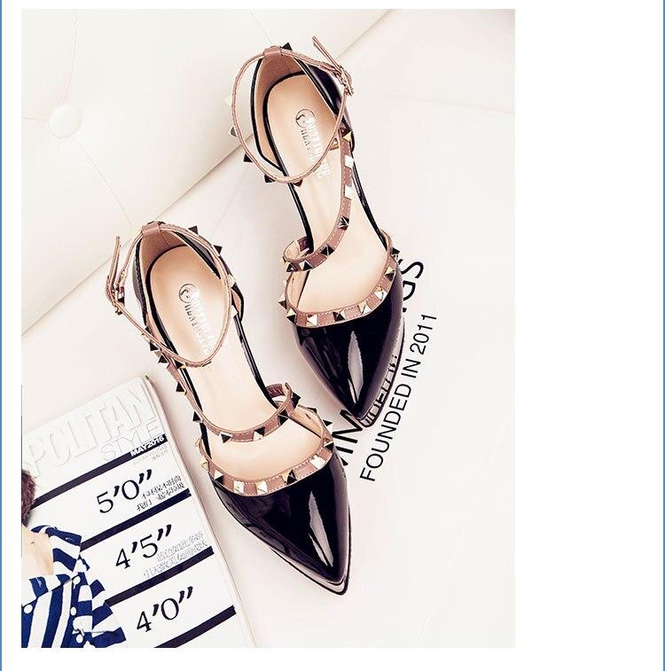 2018 nueva llegada zapatos de verano sandalias femeninas remache tacones altos-in Zapatos de tacón de mujer from zapatos    3