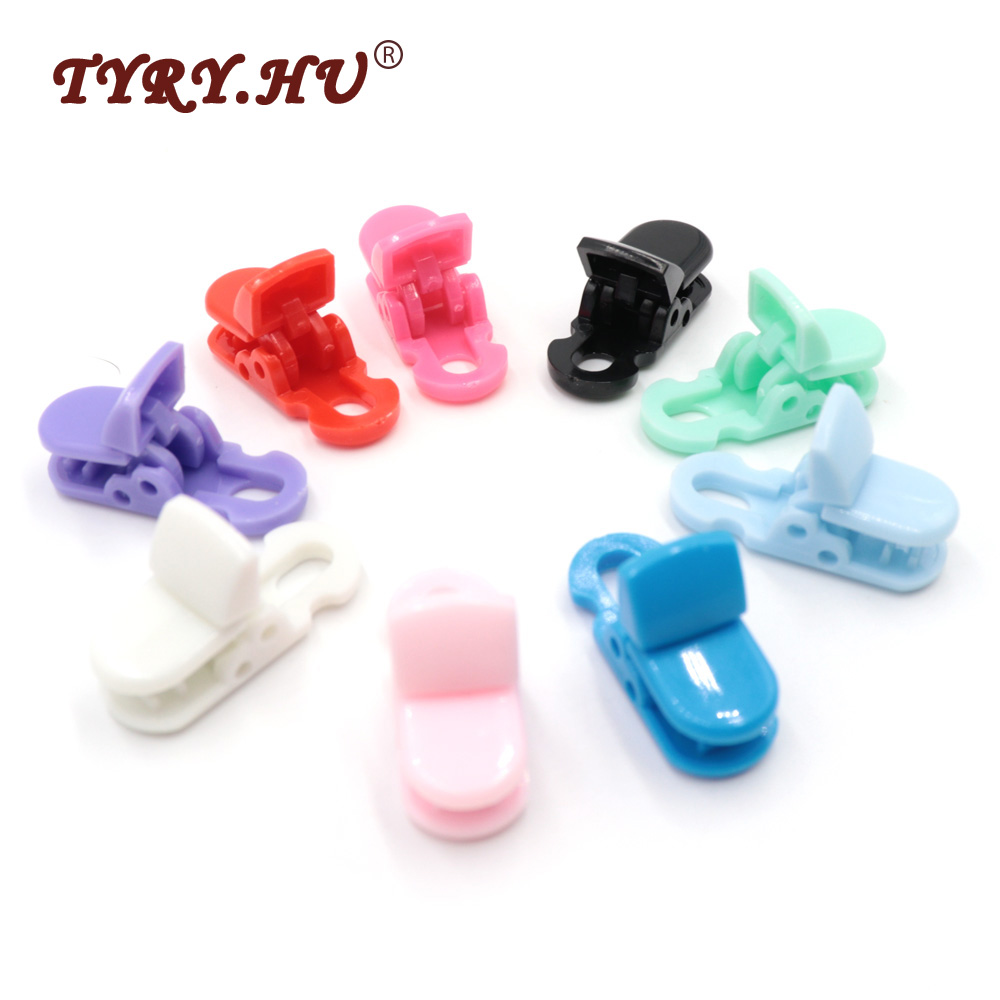 TYRY.HU 5Pcs Multifunction Flat Head Pacifier Clip Holder Baby Teether Chain Feeding Accessories Special Designed For Baby Safe
