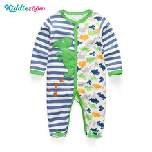 Baby Boy Rompers Summer Newborn Pajamas Clothes 100%Cotton 3