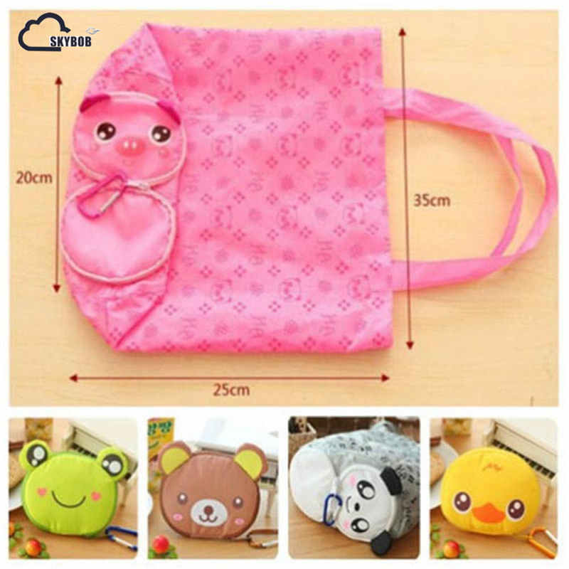цена на New Shopping Bag Cute Cartoon Foldable Storage Eco Reusable Shopping Bag Carry Tote Bag