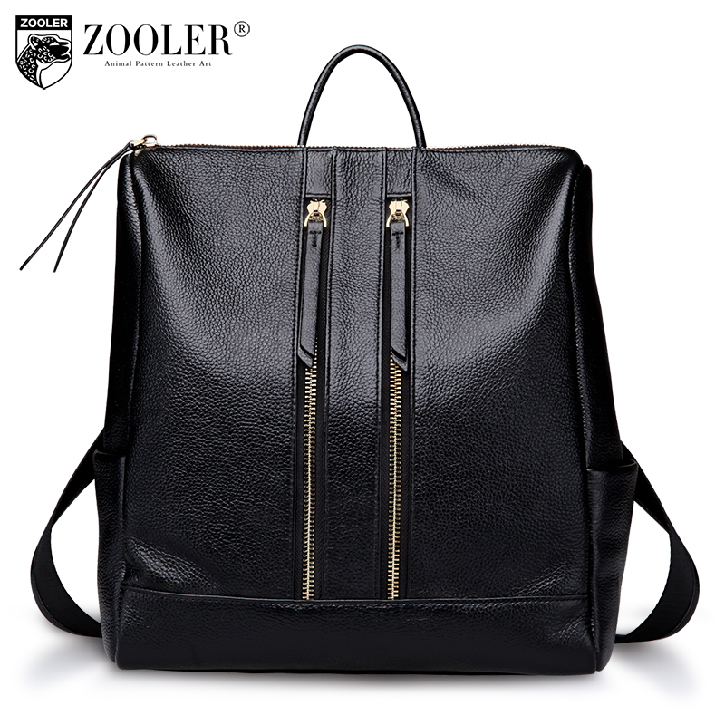 2017 new ZOOLER brand genuine leather bags for lady stylish cowhide women bag large capacity hot bolsa feminina#1108 zooler genuine leather backpacks for men boy 2016 new backpack real leather famous brand china hot large capacity bag 8339