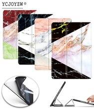 Купить с кэшбэком Marble pattern New Case for Apple iPad Air 1  A1474`A1475`A1476. PU leather cover+TPU soft Case-Smart sleep wake up case YCJOYZW