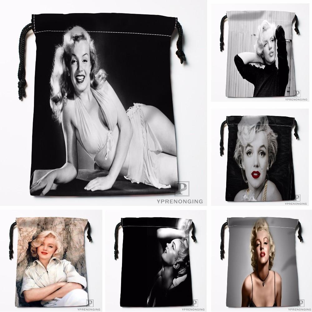Custom Marilyn Monroe Drawstring Bags Printing Travel Storage Mini Pouch Swim Hiking Toy Bag Size 18x22cm#180412-11-85