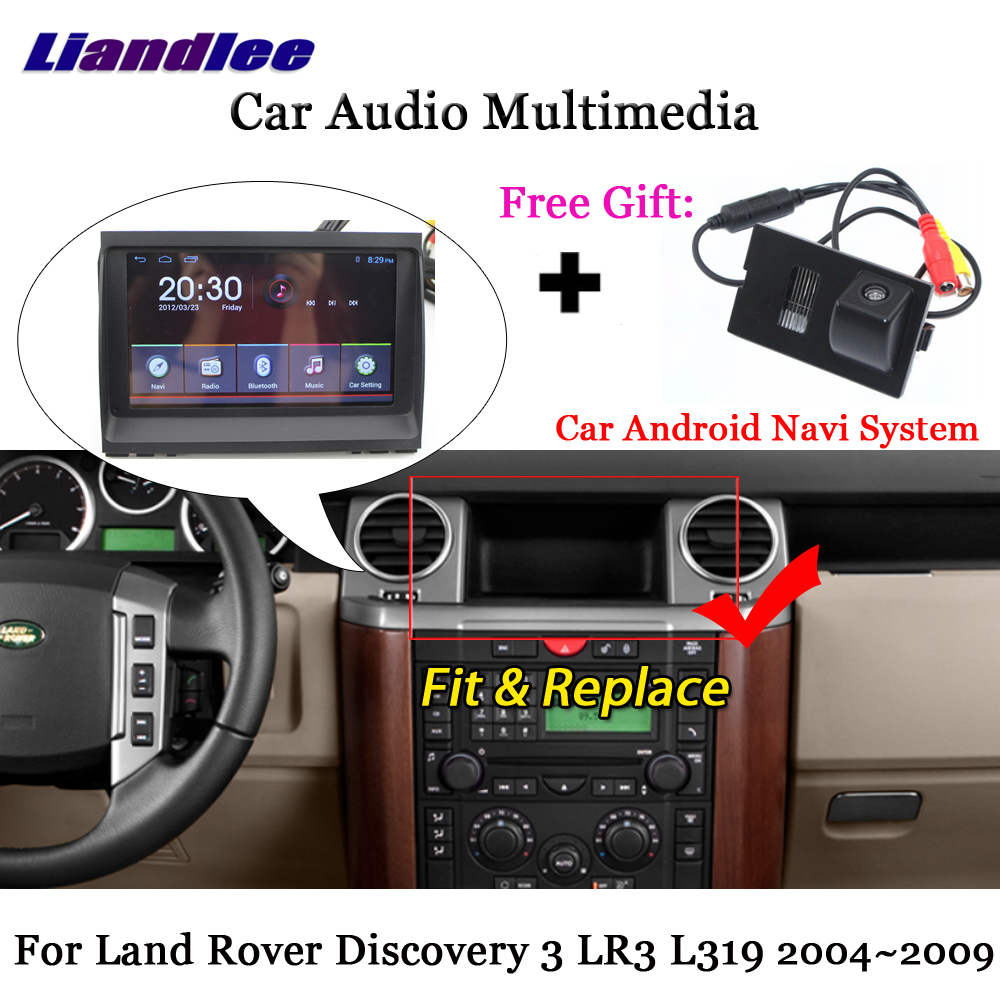 Liandlee Android For Land Rover Discovery 3 LR3 L319 2004~2009 Radio Carplay Parking Camera TV BT GPS Navi Navigation Multimedia -a