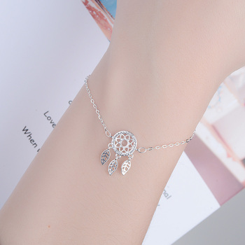Bracelet attrape rêve en fleur 2