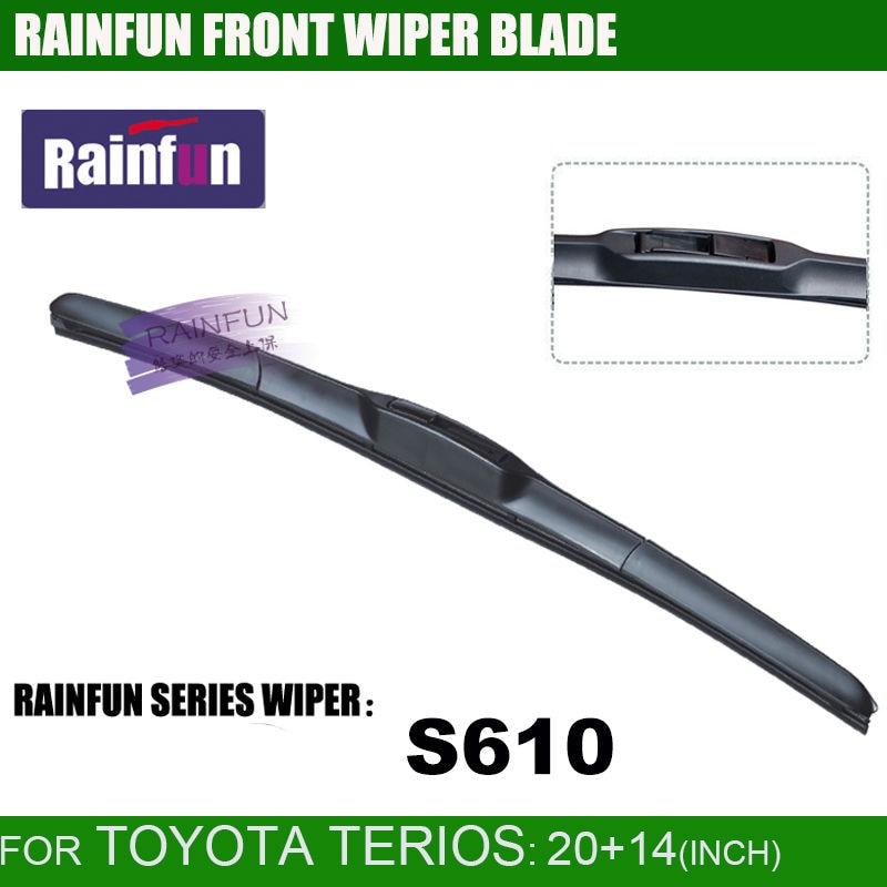 RAINFUN специальный автомобиль стеклоочистителя для Toyota Terios, 20+ 14 дюймов автомобиль стеклоочистителя с высоким качеством натурального каучука, 2 шт в партии