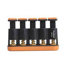 1 Orange black copper + ABS finger practice guitar piano trainer 17cm * 13.6cm3.5cm
