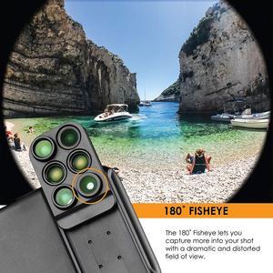 Image 3 - Nuovo Per il iphone XS Max Dual Camera Lens 6 in 1 Fisheye Grandangolare Obiettivo Macro Per iPhone XS XR xs Max Telescopio Zoom Lenti