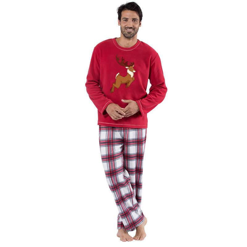 2018 natal família pijamas definir quente adulto crianças meninas menino mamãe pijamas roupa de dormir roupas de natal combinando roupas de família