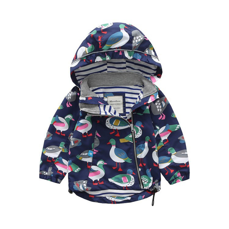 Baby Girls Jacket Spring Children Modis Coat Water Resistant Windproof Outerwear Long Sleeve Windbreaker for 2 3 4 5 6 7 Years