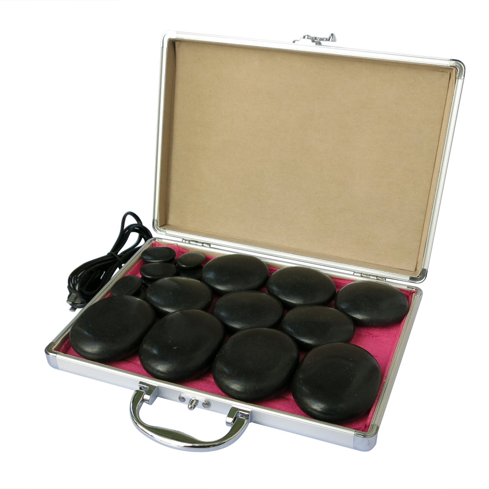 NEW wholesale retail electrical heating 110 220V SPA hot energy stone 18pcs set with heat box model 4 6 8 in Massage Relaxation from Beauty Health