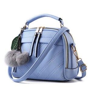 Image 4 - Briggs 패션 품질 가죽 여성 탑 핸들 가방 작은 여성 crossbody 가방 귀여운 어깨 메신저 가방 숙 녀 손 가방에 대 한