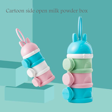 Infant formula three-layer sugar snack fruit box portable milk powder box newborn baby feeding container baby food boxes цены онлайн
