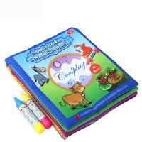Игрушка головоломка, книга для рисования водой, книга раскраска, каракули и волшебная ручка, доска для рисования, детские игрушки, подарок н
