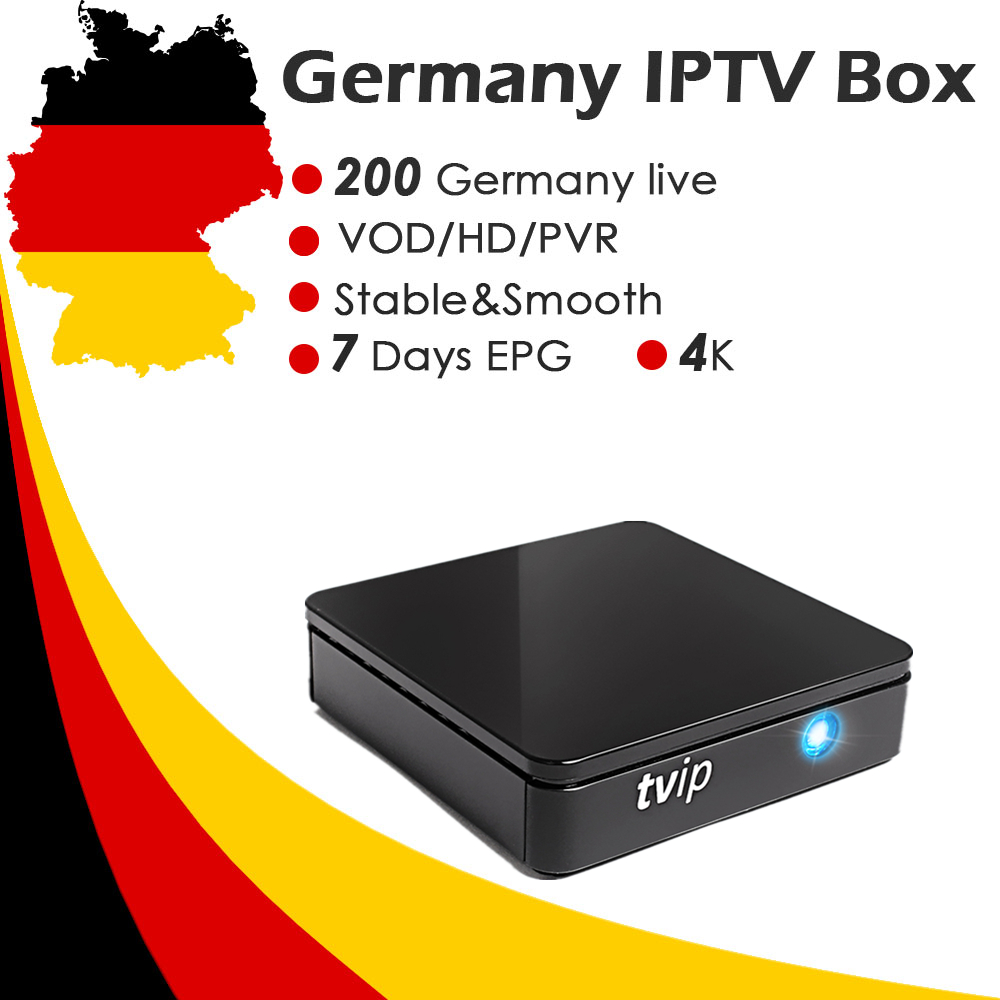 TVIP415 Box Germany Europe IPTV Subscription Amlogic S805 2 4G 5G WiFi 4K H 265 Live