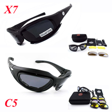 X7 C5 Polarized Tactical Sunglasses Military Airsoft Shooting Goggles UV400 Protection Outdoor Sport Hiking Glasses For Hunting