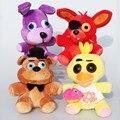 На Складе Пять Ночей В фредди 4 FNAF Бонни Foxy фредди Fazbear Медведь Плюшевые Игрушки Куклы 25 см для детей рождество подарок