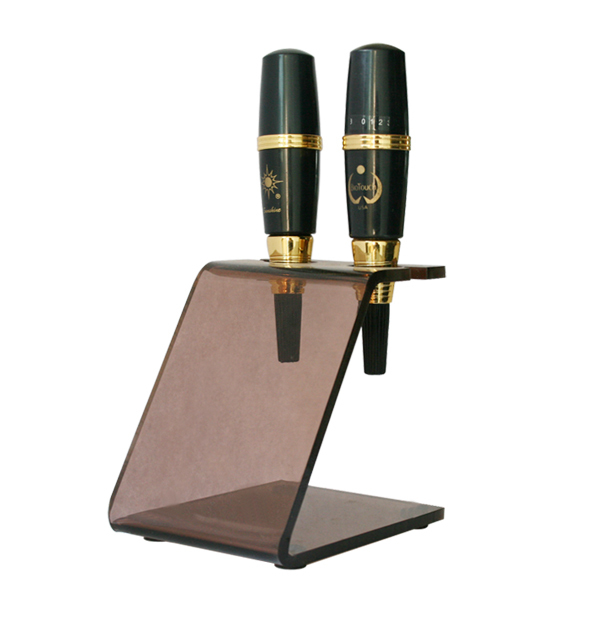 1PC Makeup Eyebrow Pen Machine Racks Stand Holder Brown Color Tattoo Makeup Machine Shelves For Tattoo Accessories