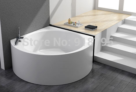 Triangle wall corner bathtub with soaking fiber glass free ...